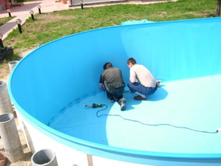 Пленка для бассейнов монтаж