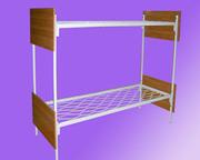 Кровати металлические двухъярусные для казарм,  трёхъярусные кровати